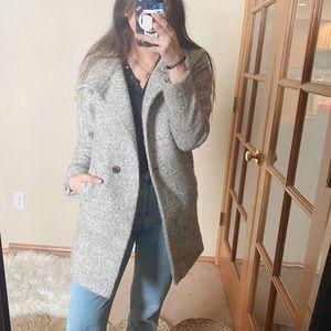 Ann Taylor Gray Wool Blend Pea Coat